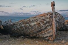 Hölzernes Thunfischboot Stockbild