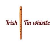 Hölzernes Tin Whistle Stockfotos