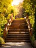 Hölzernes Treppenhaus Seattles Washington getan im Farbfotografie Lizenzfreie Stockbilder