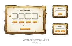 Hölzernes ui Spiel des Vektors Stockbilder