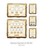Hölzernes ui Spiel des Vektors Lizenzfreie Stockbilder