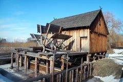 Hölzernes Watermill Lizenzfreies Stockfoto