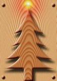 Hölzernes Weihnachten Lizenzfreies Stockfoto