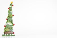 Hölzernes Weihnachtsbaum-Feld Stockbilder