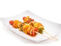 höna grillad kebab Royaltyfria Foton