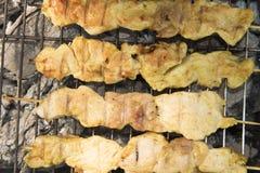 höna grillad meat Royaltyfria Bilder