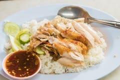 höna grillad rice Arkivbild