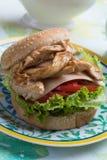 höna grillad smörgås royaltyfri fotografi