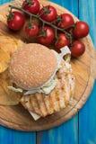 höna grillad smörgås royaltyfria foton