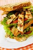 höna grillad smörgås Royaltyfria Bilder