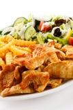 höna grillade meat Royaltyfria Bilder