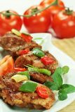höna grillade meat Arkivfoto