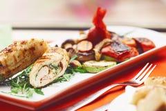 Höna med bacon Royaltyfri Fotografi