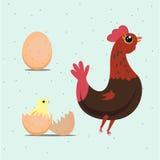 Höna och ägg - Royaltyfri Fotografi
