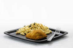 Höna och pasta royaltyfri bild