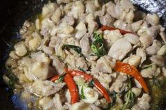 höna stekt kryddigt Royaltyfria Bilder