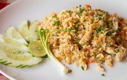 höna stekt rice royaltyfria bilder