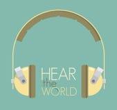 Hör världen Arkivfoto