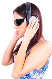 Hören Musik Stockfoto