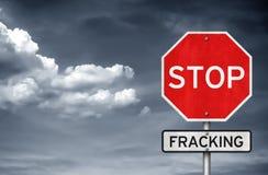 Hören Sie auf fracking Stockfoto