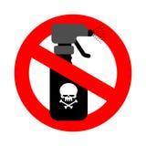 Hören Sie auf, Gift zu sprühen rotes Verkehrsschild wird verboten Verbotsprayesprit lizenzfreie abbildung