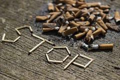 Hören Sie auf zu rauchen stockbild