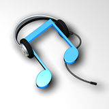 Hören Sie Musik lizenzfreie abbildung