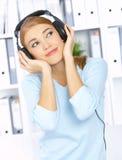 Hören Sie Musik Stockfoto