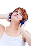 Hören Sie Musik lizenzfreie stockfotografie