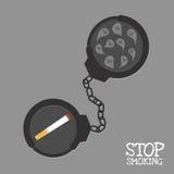 Hören Sie Rauchen und Fessel auf vektor abbildung