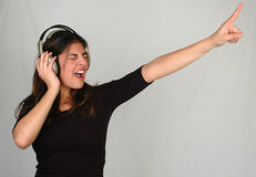 Hören zu music-1 Stockbild