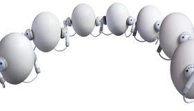 Hörende Eier stockfoto