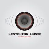 Hörende Musik stock abbildung