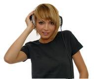 Hörende Musik des Mädchens Lizenzfreie Stockfotografie