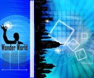 hörende Musik des Mannes 3D Stockbild