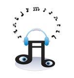 Hörende Musikanmerkung Lizenzfreie Stockfotos