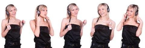 Hörendes Mädchen die Musik lizenzfreies stockfoto