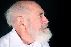 Hörgerätgroßvater lizenzfreie stockbilder