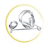 hörlurar stock illustrationer