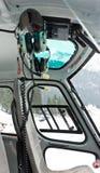 Hörlurar av helikopterpiloter Arkivfoton