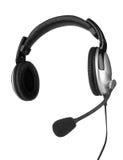 Hörlurar med en mikrofon Arkivfoton