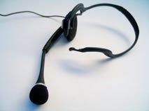 hörlurar med mikrofon Royaltyfri Fotografi