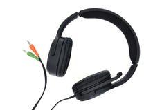 hörlurar med mikrofon Arkivfoton