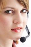hörlurar med mikrofon Fotografering för Bildbyråer