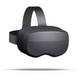 Hörlurar med mikrofon för original 3d VR Arkivbilder