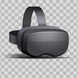 Hörlurar med mikrofon för original 3d VR Royaltyfri Bild