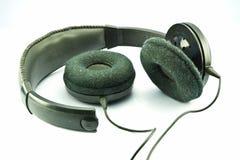 Hörlurar med mikrofon som inte fungerar. Arkivbilder
