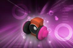 hörlurar med mikrofonhögtalare Royaltyfria Bilder