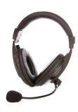 hörlurar med mikrofonmikrofon Arkivfoto