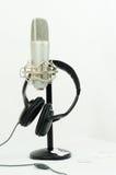 hörlurar med mikrofonmikrofon Royaltyfri Bild